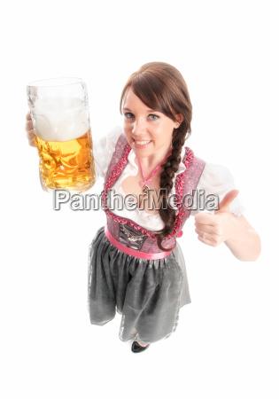 süße, bayrin, mit, maß, bier - 12210462