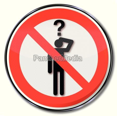 verbotsschild fragen verboten