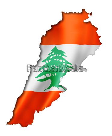 libanesische flaggenkarte