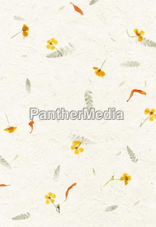 handmade blume bluetenblatt papierbeschaffenheit