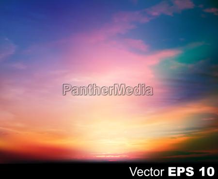 abstrakte natur himmel hintergrund mit sonnenaufgang