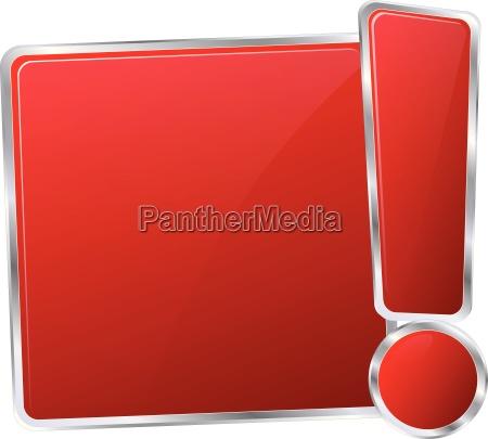 modern red sign