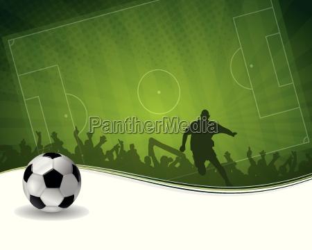 fussballspieler mit kugel