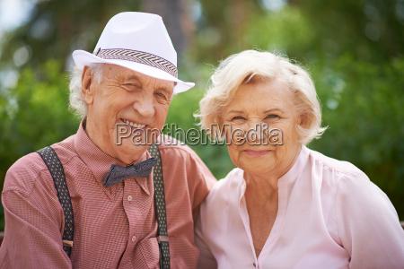 faces of happy seniors
