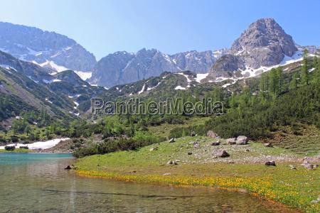 austrians mountain lake tyrol