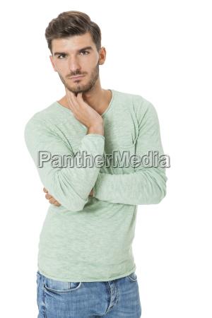 gut aussehender junger mann attraktiv in