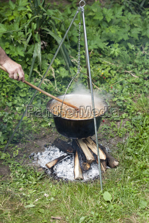 cooking in the nature