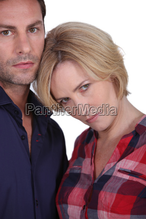 couple looking angry