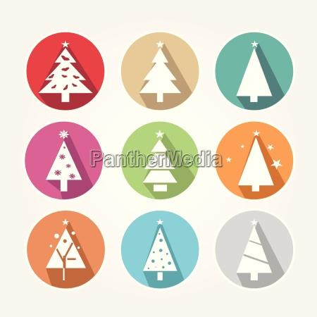 von weihnachts icons mit der hauptaufgabe