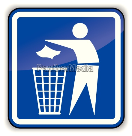 vector illustration of throw away sign