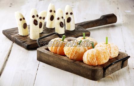 gesunde frucht halloween leckereien