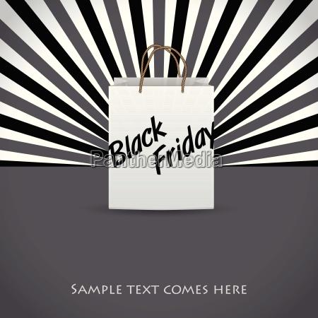 black friday werbung hintergrunddesign mit einkaufstasche