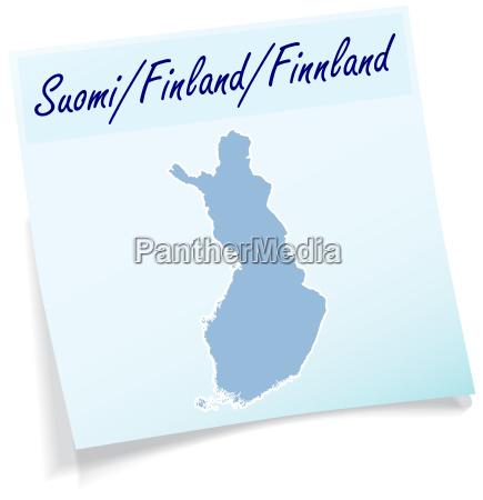 finnland als notizzettel