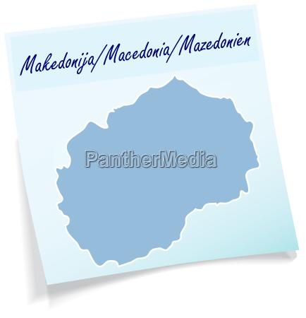mazedonien als notizzettel