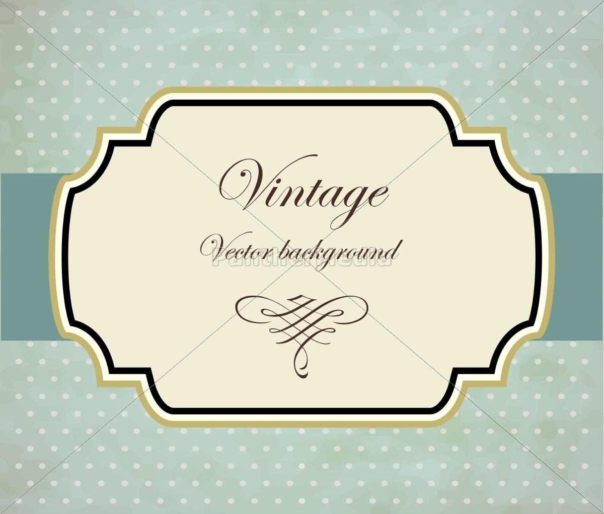Vintage rahmen vektor hintergrund stock photo 12332446 bildagentur panthermedia - Vintage bilder kostenlos ...