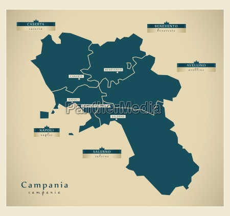 moderne landkarte campania it
