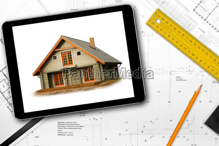 digital tablet tools and architect draft