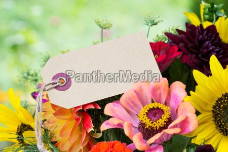 flowers summer flowers label card copy