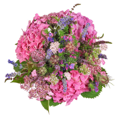 bouquet with hydrangea and herbs