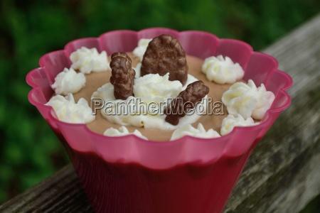 karamellpudding mit schokokekse