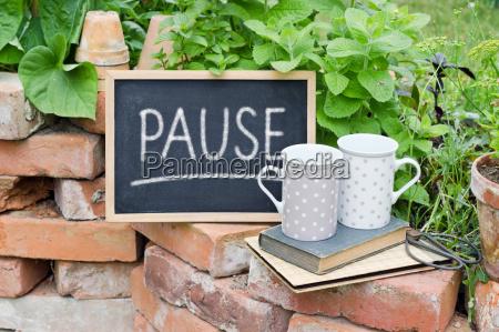 text lettering german break coffee break
