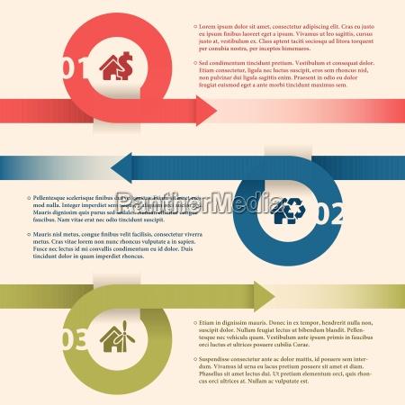 infographic design med pile og hus
