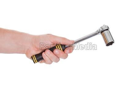 maennliche hand ratchet werkzeug