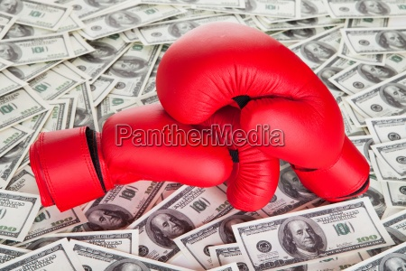 boxing gloves and lots of cash