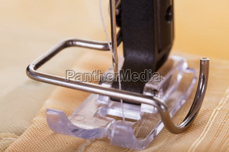 close up of sewing machine