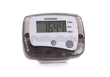close up of digital pedometer