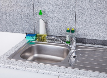 silver kitchen sink