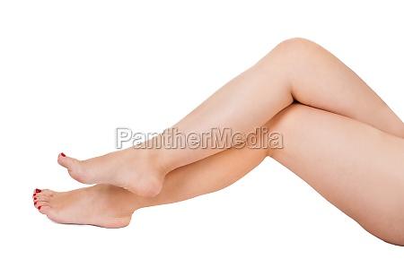 close up of female legs