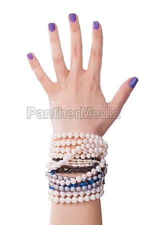 frau hand mode weiblich armband weibchen
