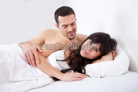 lovely young couple sleeping