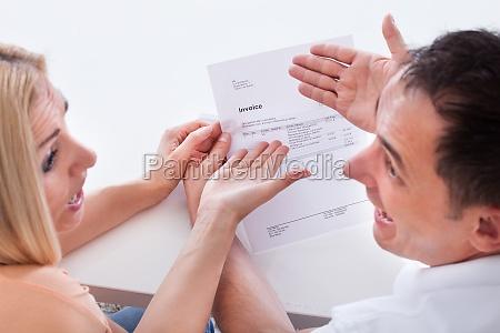 portrait of shocked couple