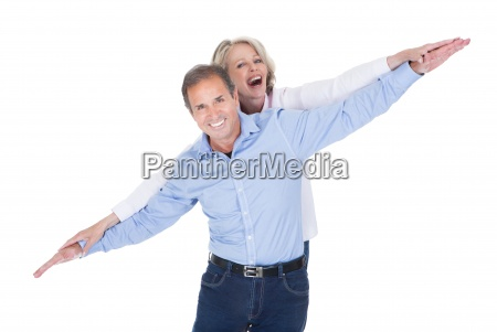 portrait of mature couple having fun