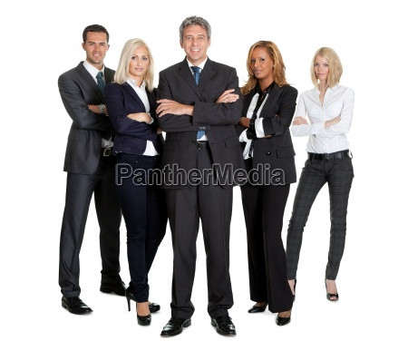 team of successful business people on