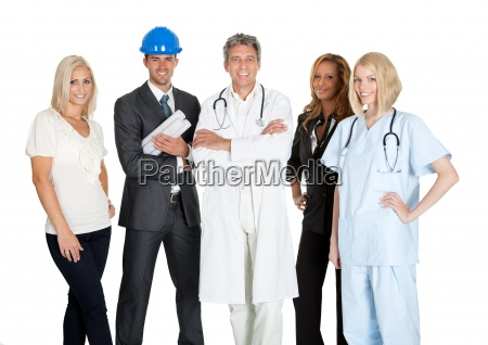 group of people in different occupations