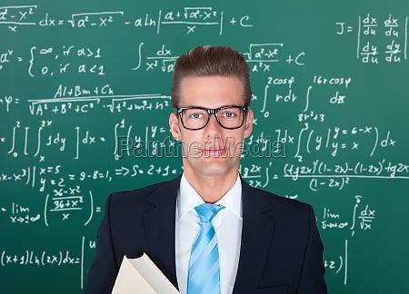 portraet des maennlichen professors