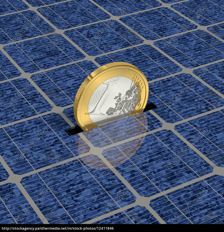 geld, sparen, durch, solarenergie, 1 - 12411846