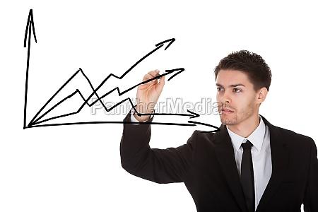 hand writing charts on blackboard