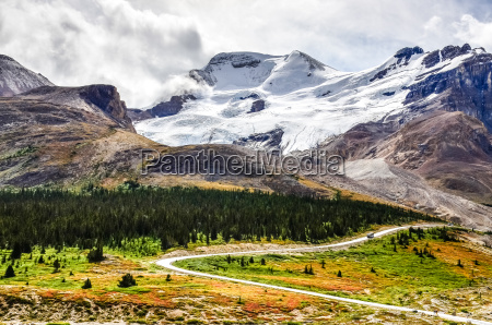 landschaft blick auf columbia gletscher in