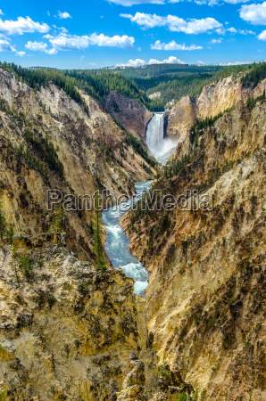 landschaftsansicht des grand canyon von yellowstoneusa