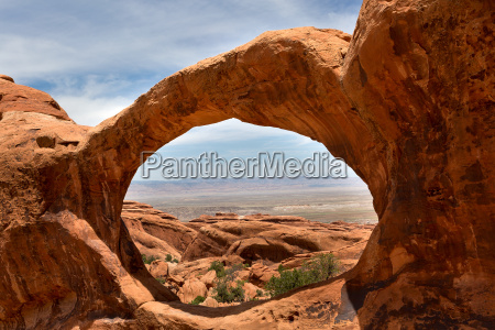 landschaft durch oberen double o arch