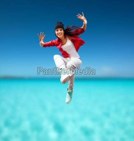 schöne, tänzerin, springen - 12449054