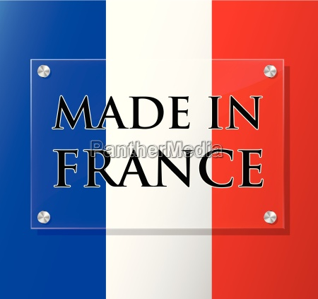 vector made in france sign