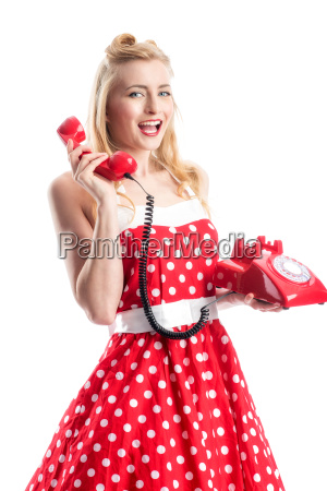 pin up girl on the phone