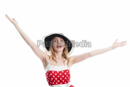 woman present presentation successful succesful pinup