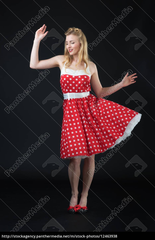 frau, im, rockabilly, style - 12463938