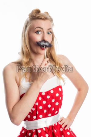 rockabilly woman with lollipop